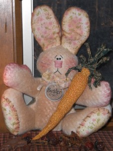 jan17002 225x300 Primitive Easter Bunny   New Item