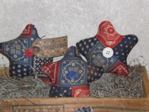 cimg1756 300x225 Americana Primitive Decorations for Memorial Day and The Fourth of July