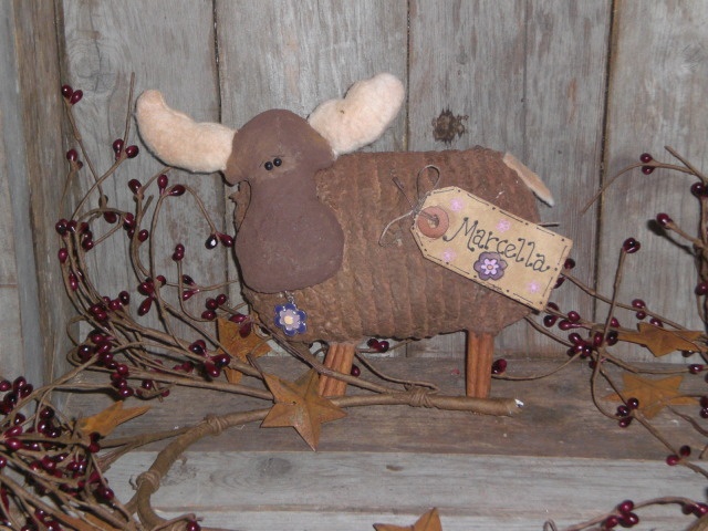 primitivemooseornament Adopt a Primitive Moose Ornament