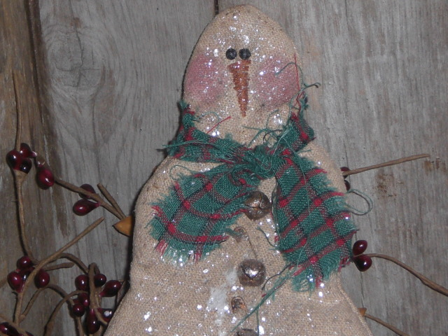 Aug6b005 Primitive Christmas Decorations: Snowmen