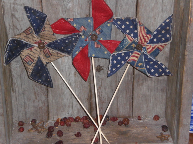 Primitive Americana Pinwheels