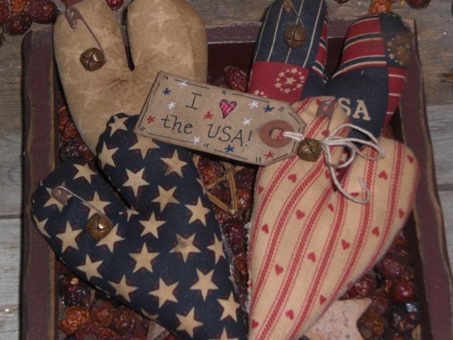 Primitive Americana Hearts