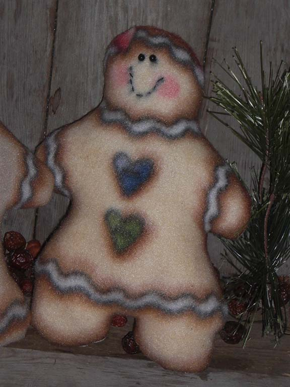 PrimitiveChristmasGingerbreadMan Primitive Christmas Ornies and Bowl Fillers